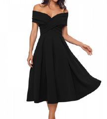 Črna elegantna obleka NOVA S