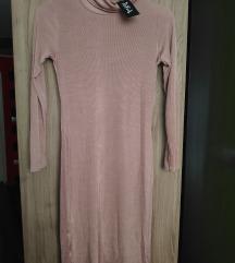 nova pudrasto roza obleka