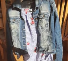 Jeans jakna + majčka