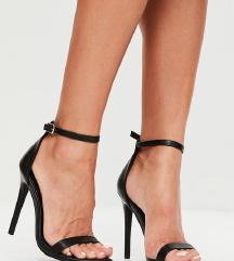 Novi črni visoki sandali