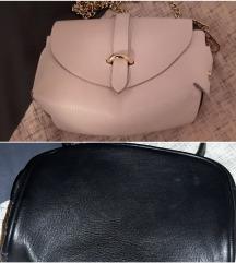 Bela in črna mini čezramna torbica