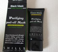 PELL OFF črna maska za obraz