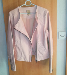 Nova roza usnjena jakna