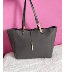 Velika temno siva torbica