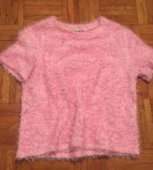 Zara roza fluffy majica L/40