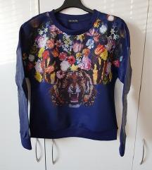 nov moder pulover, mikica s tigrom