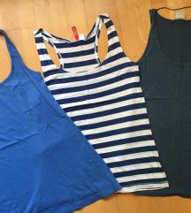 Modri komplet majic na naramnice