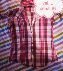 Roza karirasta srajca
