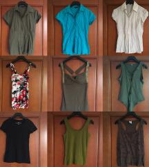 Kratke majčke, konaterce in srajčke