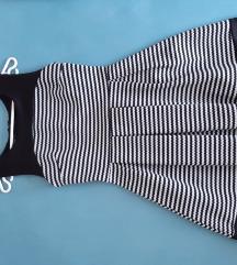 Črno bela oblekica