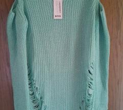Turkizen ripped pulover