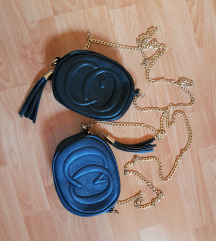Črna in modra torbica, NOVO!