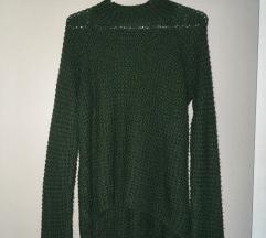 Olivno zelen pulover