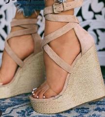 Nude sandali