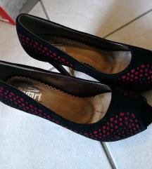 Novi črni čevlji open toe