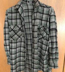 Zelena karirasta srajca