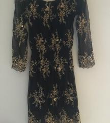Crno-zlata obleka