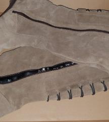 Usnjeni škornji(pravo usnje)vel.40