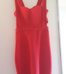 Rdeča kratka obleka
