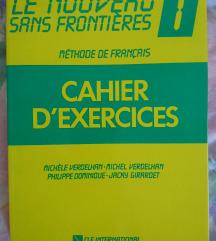 Cahier d'exercises - učenje francoščine