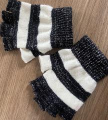 Črno bele rokavice brez prstov🧤