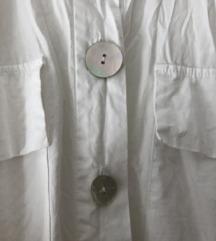 Bela daljša poletna srajica Zara