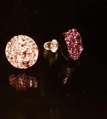 Uhani Pink Geode