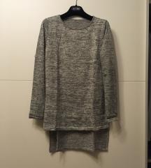 Siva tunika/pulover S