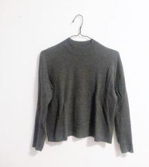 H&M temno siv pulover