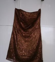 Rjava obleka 38 - Znizana cena!!!