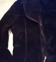 Velur črna jakna