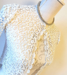 NOVA bela čipkasta jaknica