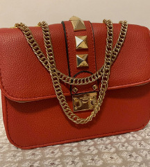 Valentino clutch rdeča torbica