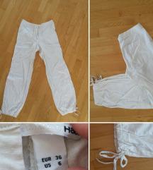 poletne bele lanene hlače