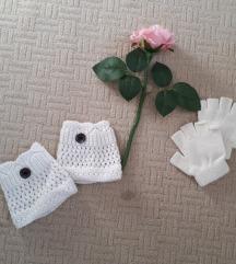 bele rokavičke brez prstov