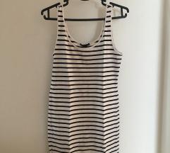 Črtasta poletna obleka